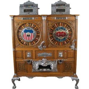 5c Mills Double Dewey Upright Slot Machine 1906